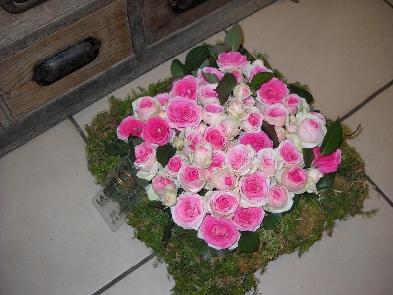 Coussin carré de roses 1
